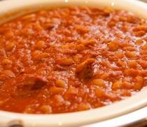 豚肉とインゲン豆の煮込み
