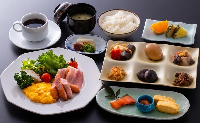 会席プランの朝定食