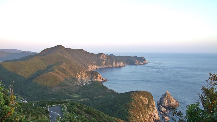 *大潮岬と夕日