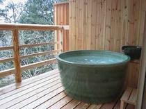 陶器の露天風呂
