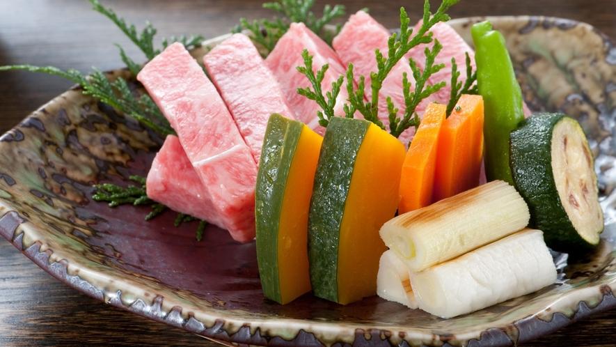 日替わりメニュー和牛肉一例