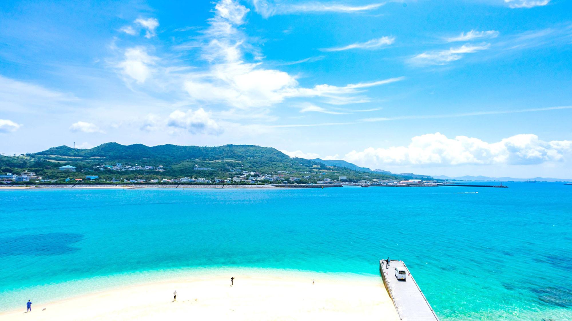 ・【ビーチ】瀬底倶楽部から水着のまま海へGO!