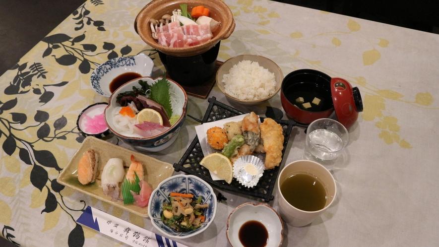*【夕食一例】日替わりで食事内容は異なります。お楽しみください。