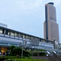 ホテルから浜松駅がこんなに近く!!!