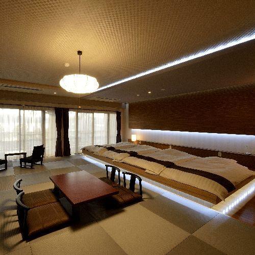 【レイクビュースィート】広いお部屋ですので、8名まで宿泊が可能です。3世代家族にもおすすめです!