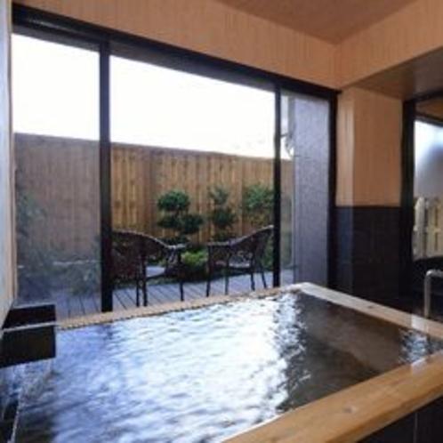 【貸切】天然温泉で掛け流しの半露天風呂。45分2200円でご利用可。お客様から高い評価を頂いてます。