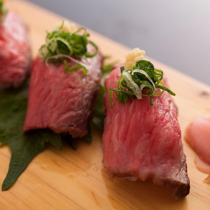 但馬牛炙り握り寿司