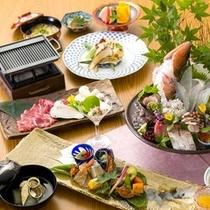 【2015年8月頃のお料理(一例)】夏の食材を取り入れた会席をご用意いたします。