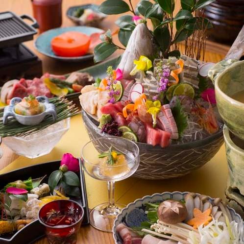 【2015冬のお料理(12月一例)】旬の味はもちろん見た目もお愉しみ頂けます。