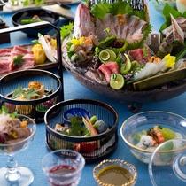 【2016夏のお料理(8月一例)】夏の食材を取り入れた会席をご用意いたします。