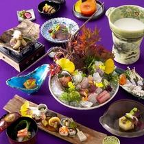 【2015秋のお料理(一例)】旬の味はもちろん見た目もお愉しみ頂けます。
