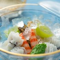 【2016夏のお料理(8月一例)】夏にぴったりな見た目も涼しげなお料理。
