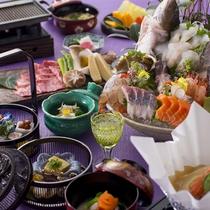 【2016冬のお料理(2月一例)】旬の味はもちろん見た目もお愉しみ頂けます。
