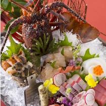 【2016冬のお料理(1月一例)】旬魚のお造り。旬の海の幸をご堪能ください。