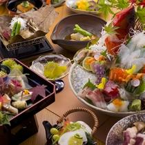 【2015年10月頃のお料理(一例)】徐々に深まる秋の気配。季節の会席膳をご用意いたします。
