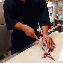 料理人 魚さばき