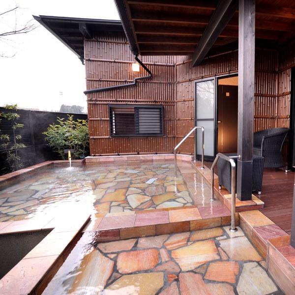 ◆中車◆露天風呂付スィート75m2【セミダブルツイン・和洋室・寝湯付】専用露天