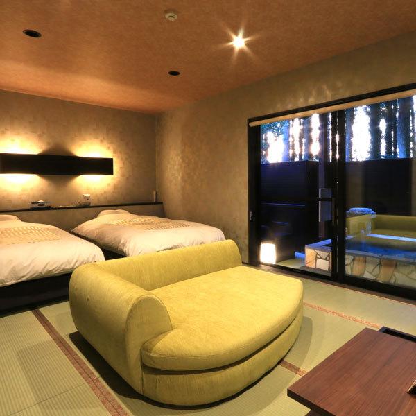 ◆桜天女◆露天風呂付スィート70m2【セミダブルツイン・和室】