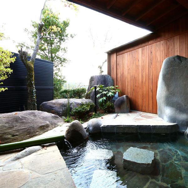 ◆蝶尾◆露天風呂付スィート80m2【セミダブルツイン・和洋室】専用露天風呂