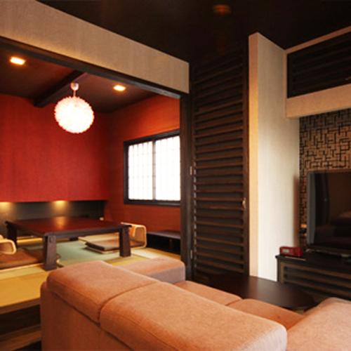 ◆中車◆露天風呂付スィート75m2【セミダブルツイン・和洋室・寝湯付】