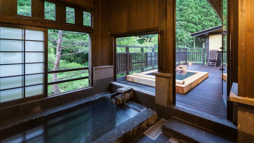 離れ10畳和室+12畳洋室 内風呂・露天風呂付【ねむの木】