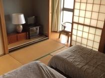 珍しい、和室にベッドがあるお部屋!
