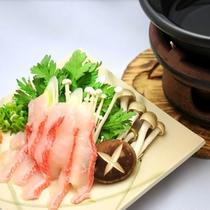 *お料理 一例 金目鯛の深層水しゃぶしゃぶ 海の幸に舌鼓。