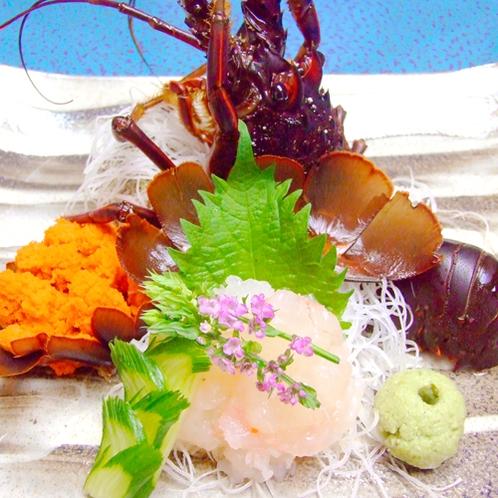 *【伊勢海老】お造り 新鮮な伊勢海老を素材そのままお造りで、海老の甘みをお楽しみください。