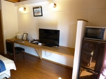 落ち着いた環境を提供する客室設備