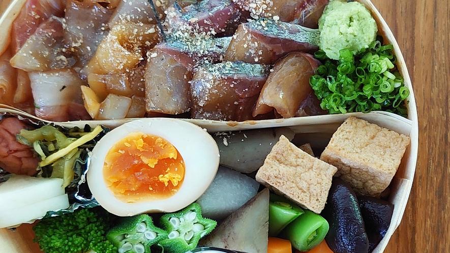 お弁当(夕食):関アジりゅうきゅう弁当/一例