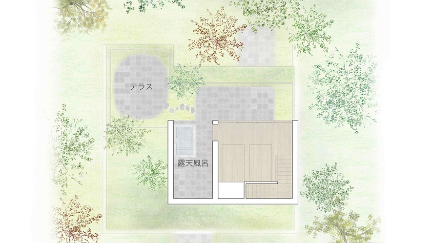 メゾネットラグジュアリースイート(間取りイメージ2階)