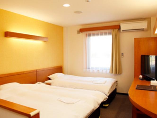 全室シングルベッド・ダブルベッドのツインルーム