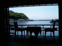 【美保館 本館】縁側からの風景