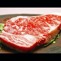 【ご夕食】霜降ステーキ肉!