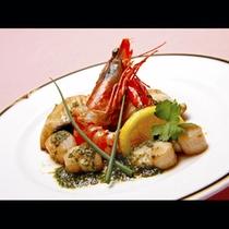 【ご夕食】シーフードとバジルのソテー