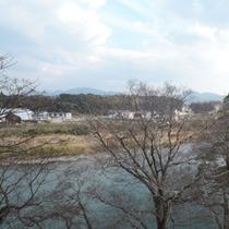 景色一例♪駅館川が見えるお部屋もございます