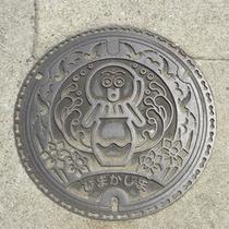 *日間賀島のタコのマンホール