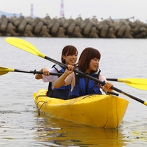 *キッズアドベンチャーでのカヌー体験