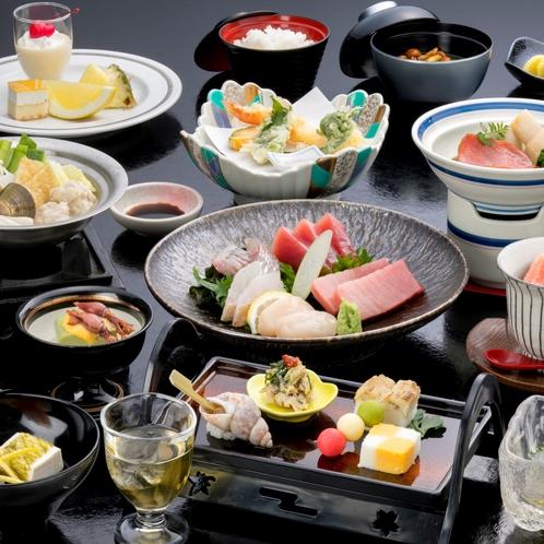 【お料理イメージ】海の幸や旬の食材を使用した和食懐石