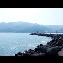海が目の前