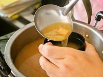 手作り味噌汁は大好評です♪