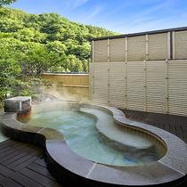 【貸切露天風呂】月の湯(昼景)
