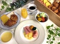 7月1日以降のご朝食「アメリカンブレックファースト」スタイル