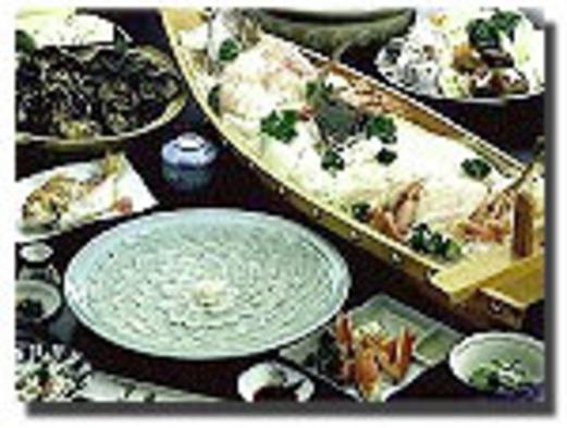 ○●欲張り!若狭ふぐと舟盛料理●○とれピチ魚の舟盛・てっさ・てっちり・若狭ふぐ唐揚げ付♪