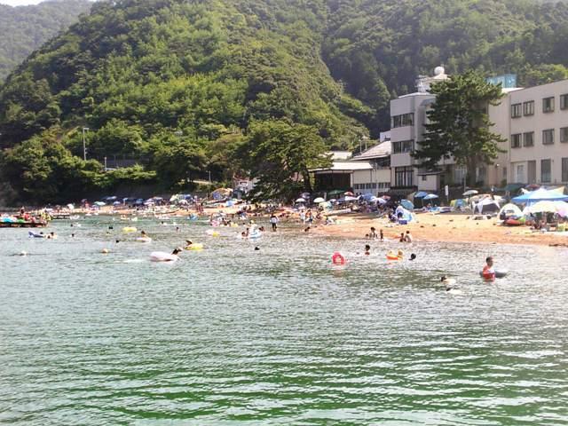 夏の阿納海水浴場