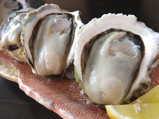 2021年岩牡蠣シーズン!【岩牡蠣と真牡蠣の食べ比べ】牡蠣会席プラン「貸切露天無料」