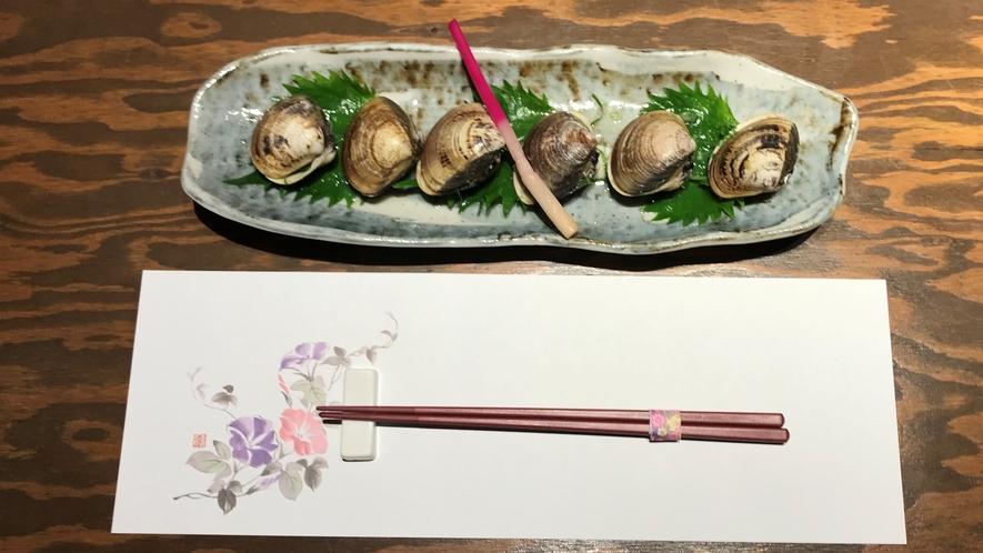【あやの食堂/夕食一例】焼きハマグリ