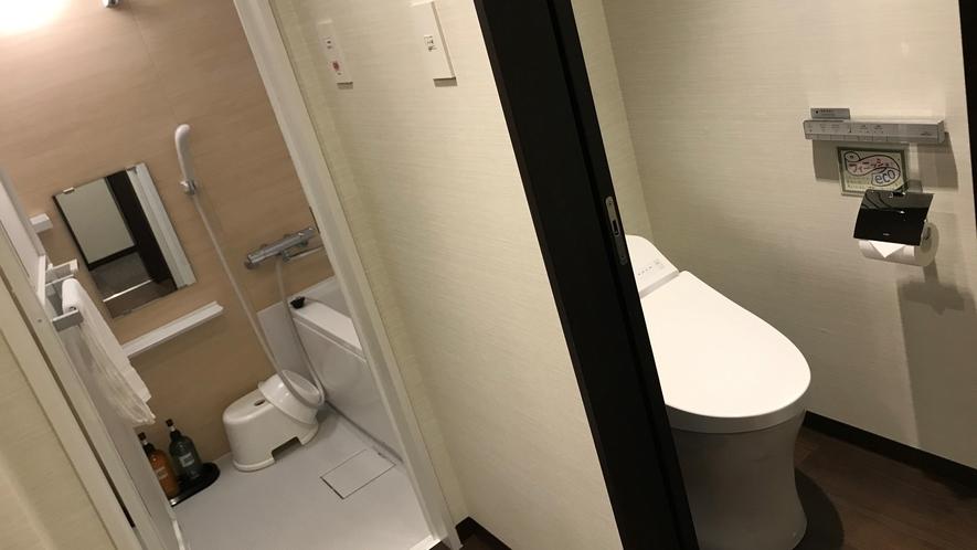 【ツインルーム】お風呂とトイレが別になっております。