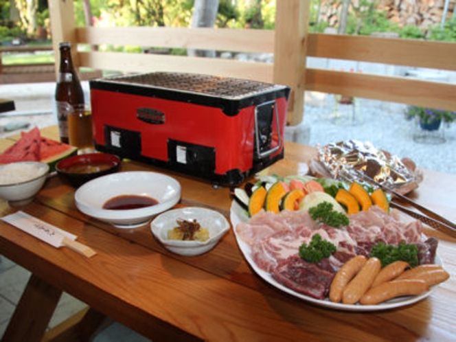 バーべキューの料理例(3人前)