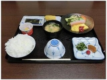 日替わり朝食の一例となります。